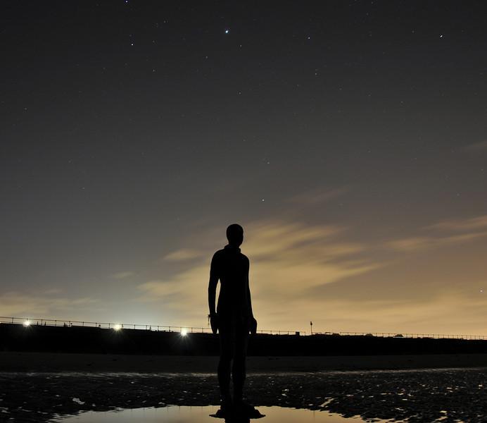 Antony Gormley's 'Another Place'. January 2014.