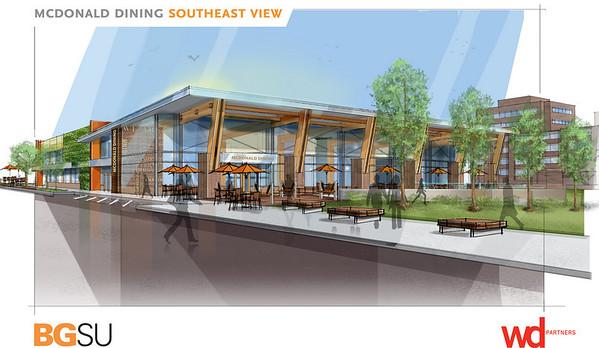 new McDonald dining center renderings