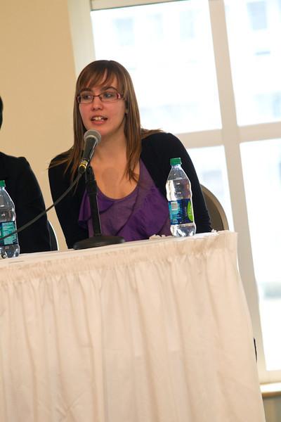 Merissa Acerbi at the student panel