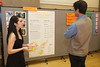 Bianca Garza explaining her project on House Concerts.