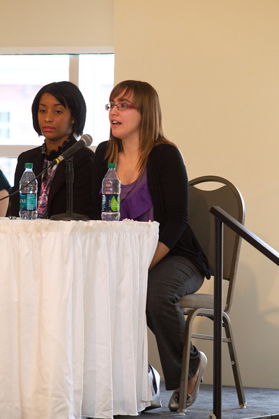 Merissa Acerbi at the student panel (on right)