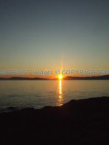 Sunset over the San Juan Islands