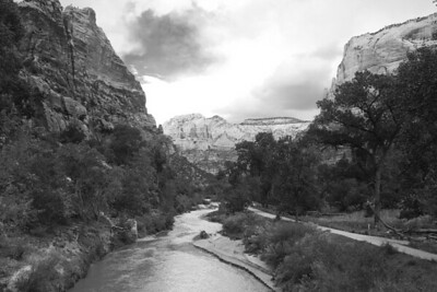 Zion in black and white