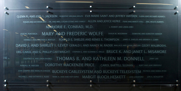 Wolfe Center Donor Wall