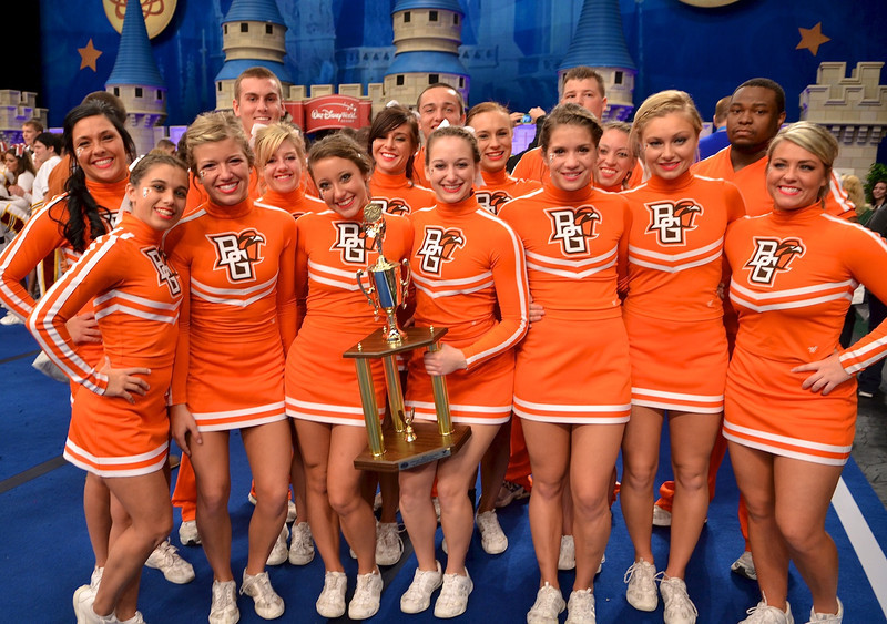 Bowling Green State University compete in the UCA/UDA College Cheerleading and Dance National Championships at Disney's Wide World of Sports Complex, Lake Buena Vista, Saturday, January 14, 2012.