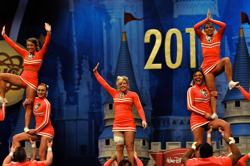 Bowling Green State University compete in the UCA College CheerleadingNational Championship at Disney's Wide World of Sports Complex, Lake Buena Vista, Saturday, January 14, 2012.