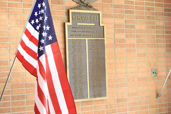 Memorial Hall Plaque -Vets Day