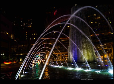 Fountain Lights by Julia Howerton
