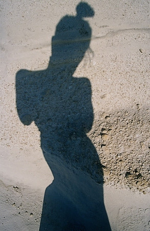"""Self Portrait"" Milos, Greece © Elizabeth Christopher 2004"