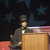 Russell Brown as (fake) Abraham Lincoln.