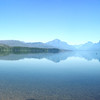 McDonald Lake view from Apgar Visitor Center, Glacier National Park