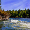 "The Spokane River, Washington...""Another Beautiful Day"""