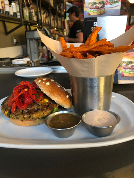 Sprouted Veggie Burger @ The Counter, Santana Row, San Jose