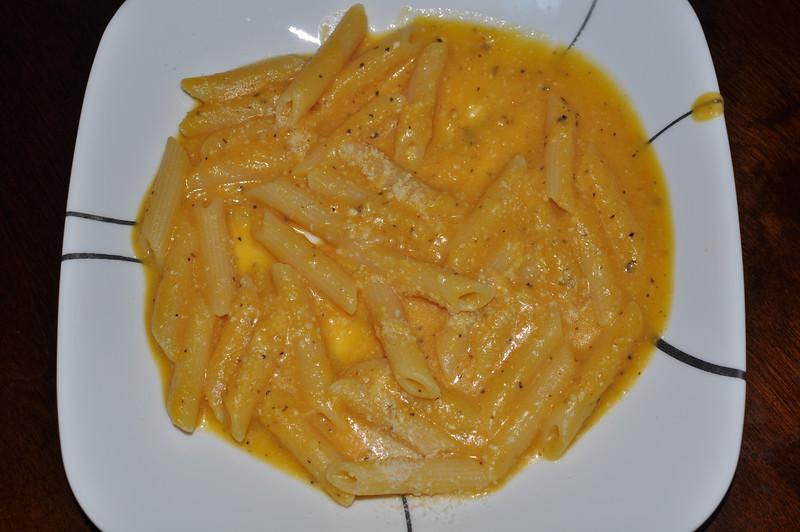 Home made Yellow Squash Pasta