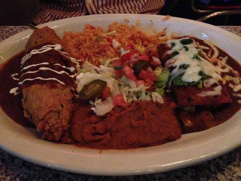 Vegetarian Combo @ Chuy's , Austin
