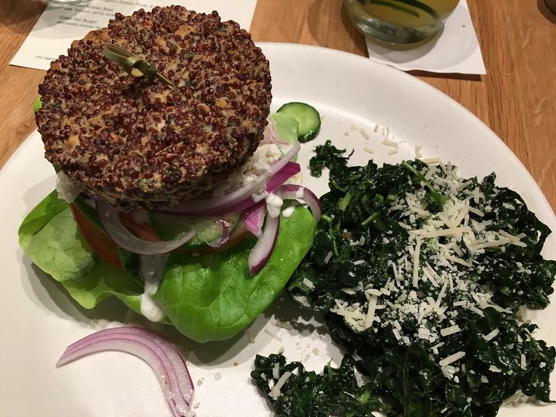 Inside Out Quinoa Burger @ True Food Kitchen, Austin