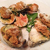 Oysters Rockefeller @ Gumbo's Bee Caves, Austin baked oysters in a cream spinach pernod, with fried, oysters &parmesan