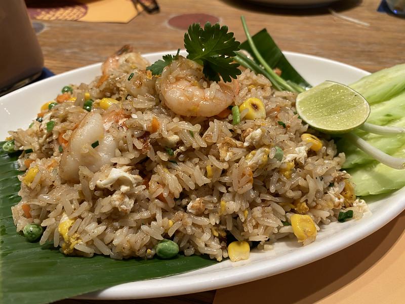 Shrimp Fried Rice at Simply Thai, Shanghai, China