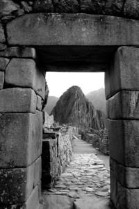 Main gate of Machu Picchu