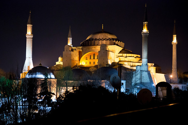 And this is the Hagia Sophia from our hotel.