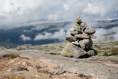 Hiking to Kjeragbolten, Norway