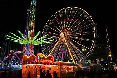 Fair set up in Dam Square, Amsterdam