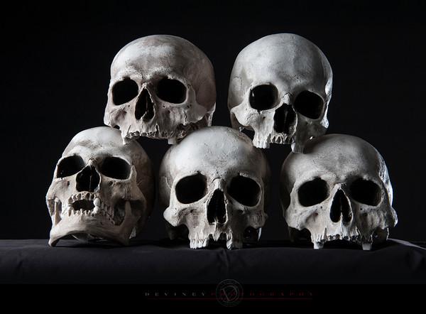 Skulls stacked