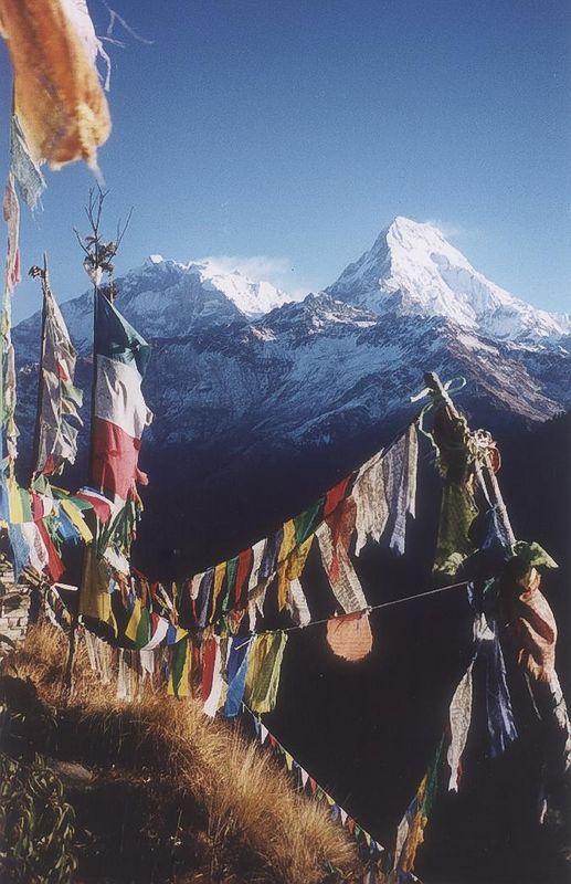 Prayer Flags, Ghorapani, Nepal