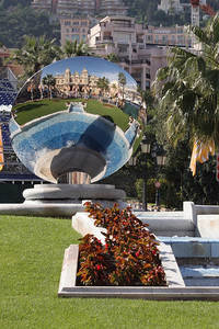 Monte Carlo Casino in the reflection