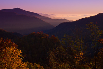 Sunset in the mountains of Tennessee.
