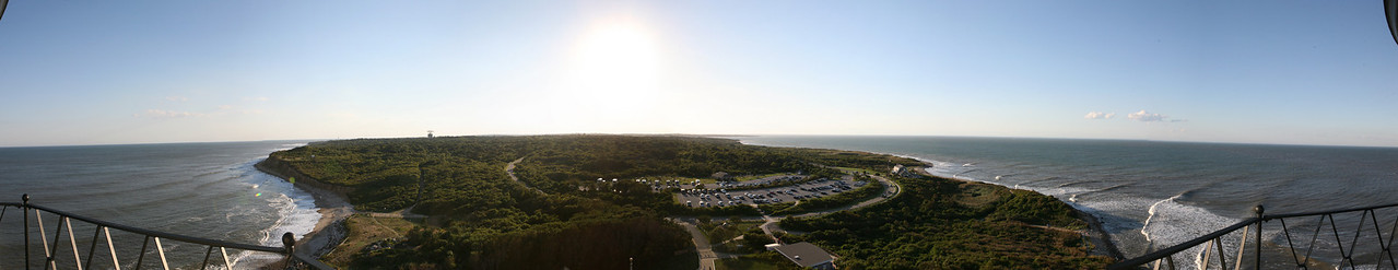 Pano of Montauk  East end of Long Island . 5 image Pano from atop of the light tower .