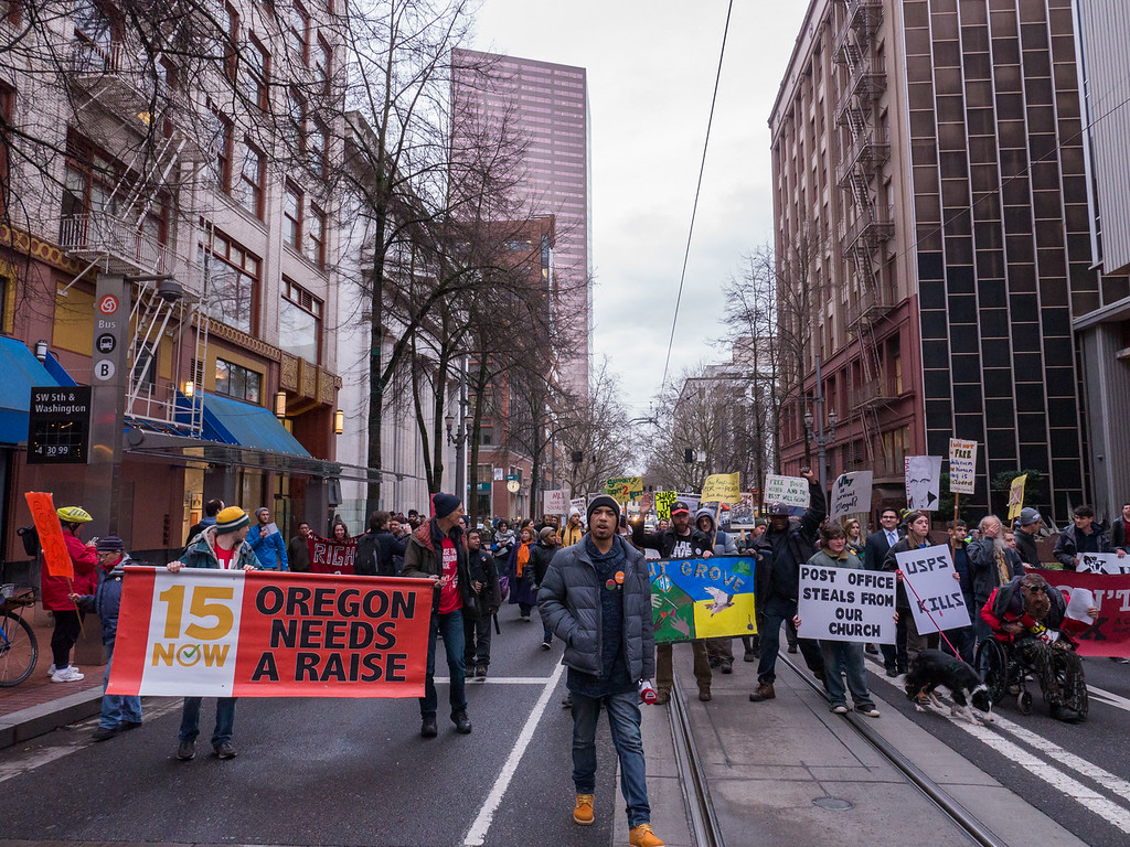 'A People's Solidarity March'', Portland - January, 15, 2016