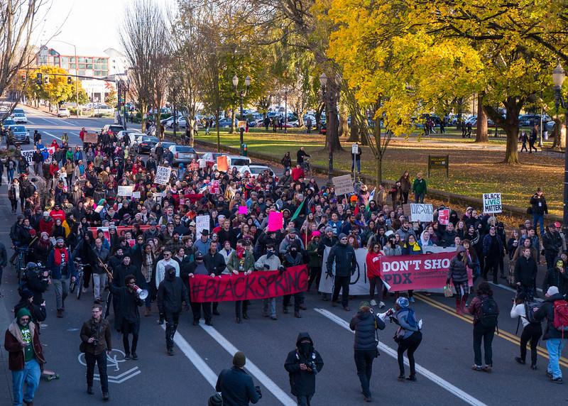 'Black Lives Matter Not Black Friday' march, Portland - November, 28, 2015