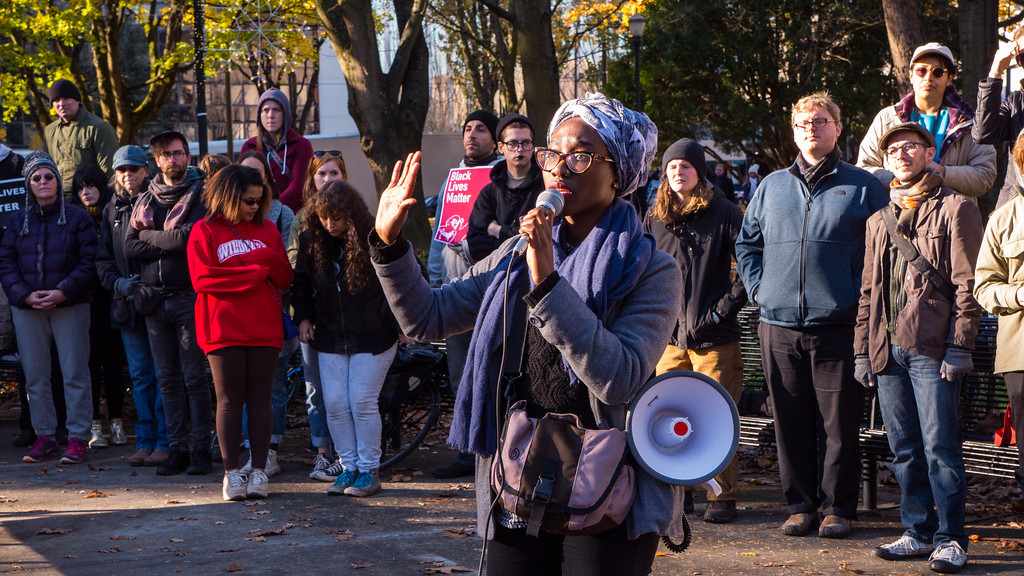 'Black Lives Matter Not Black Friday' march, Portland - November, 28, 2015