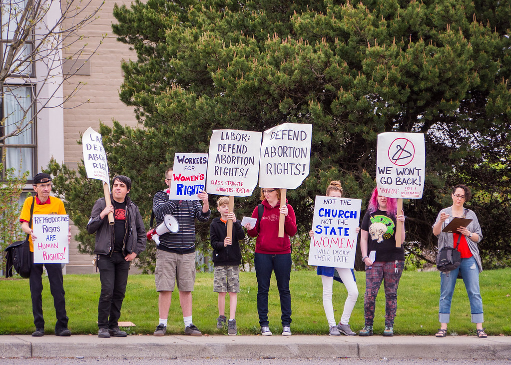 'Defend Abortion Rights Protest Against Anti-Choice Conference & David Daleiden' , Portland - April, 9, 2016