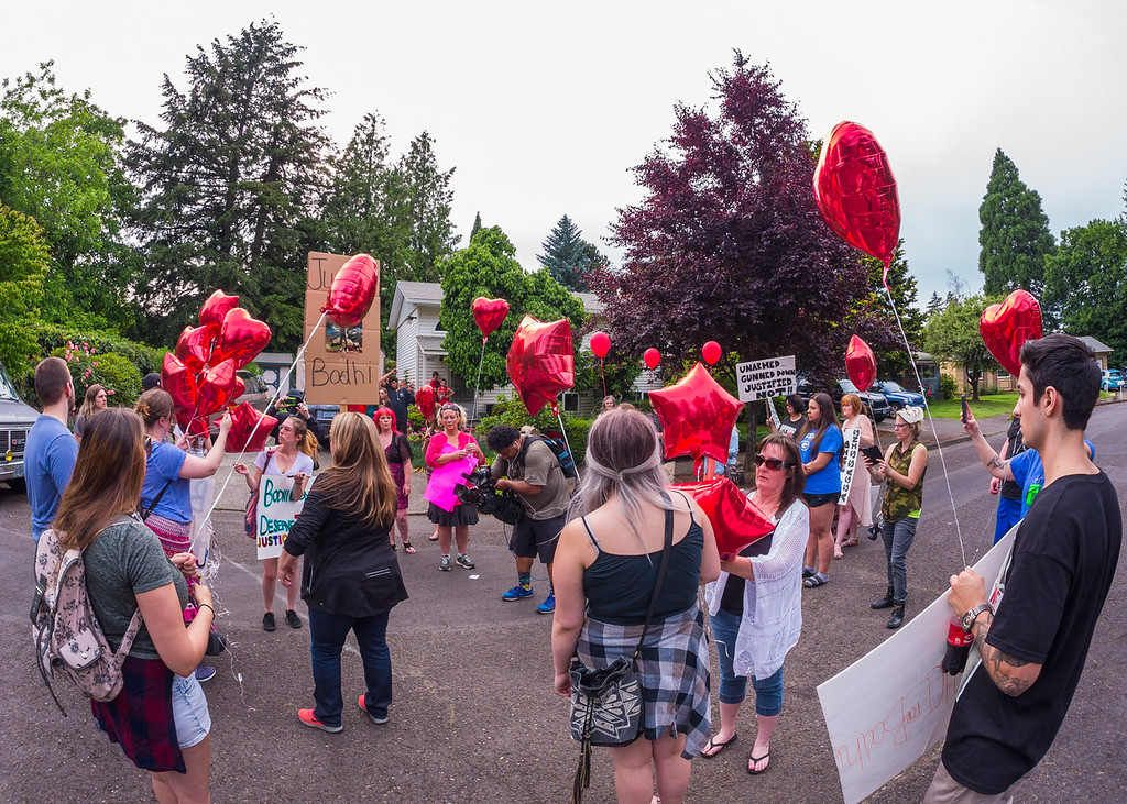 'Justice for Bodhi Phelps' March and Vigil, Gresham - June, 1, 2016