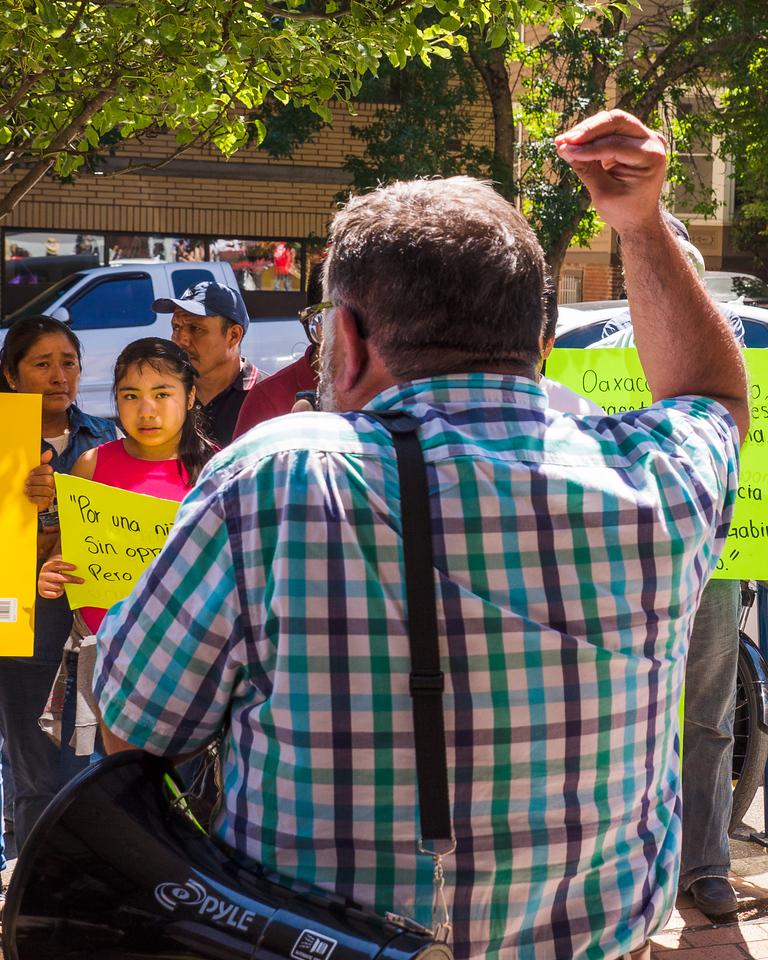 'Oaxaca Solidarity Rally' @ Mexican Consulate, Portland - June, 27, 2016