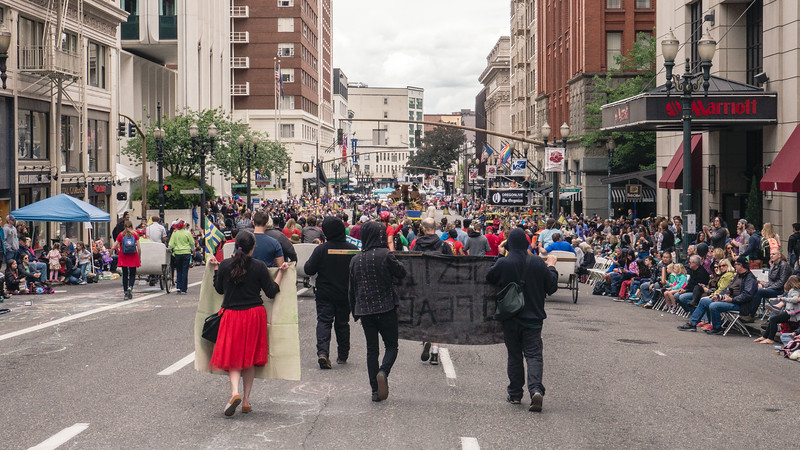 'Protesting the Mayors' @ Rose Festival Parade, Portland - June, 11, 2016