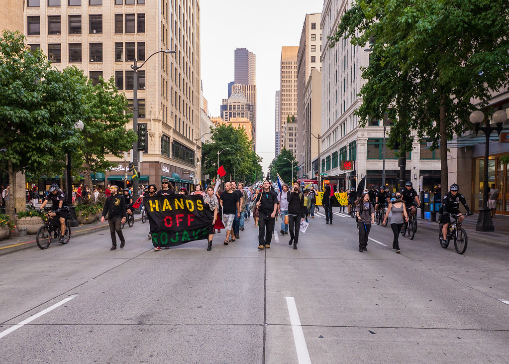 Rojava Solidarity March, Seattle - August, 22, 2015
