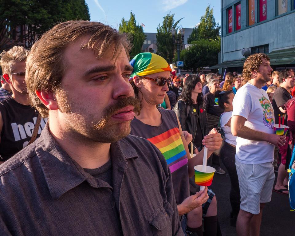 'Vigil for Orlando', Portland - June, 12, 2016