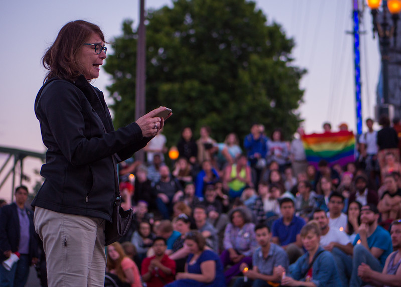 'Vigil for Orlando', Portland - June, 12, 2016