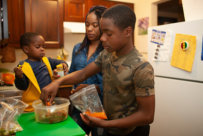 Chef Keacean Phillips and Family
