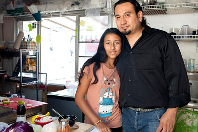 Chef Juan Fernando Otero and Daughter