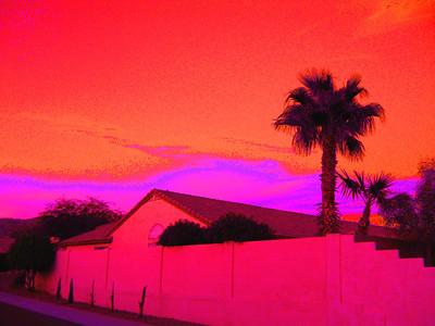 Sunset, Awatokee, AZ,  nov 17, 2007A