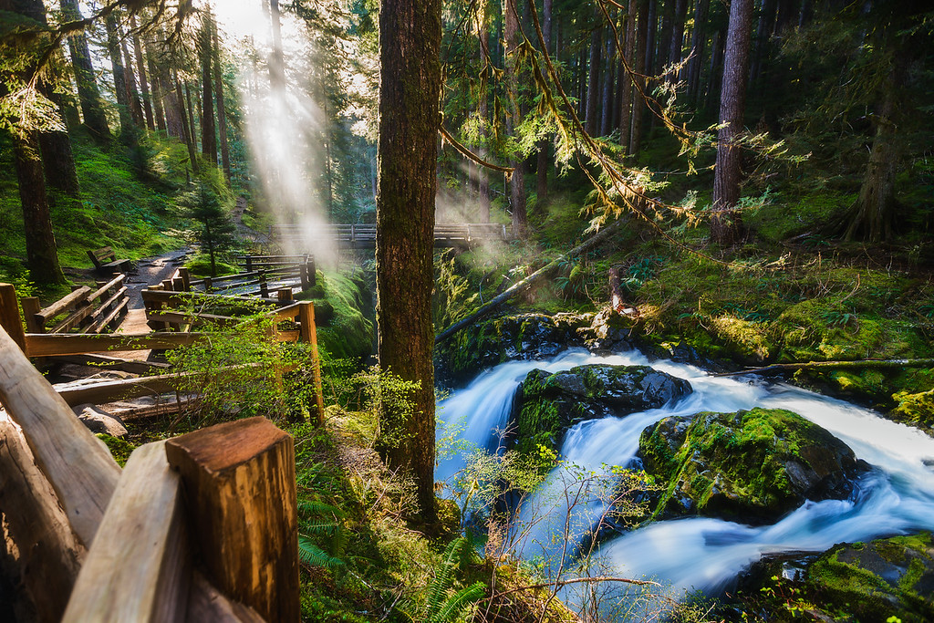 Photo of sul duc falls in Olympic National Park, Washington state