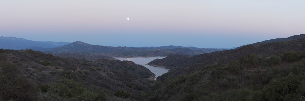 Photography of Moonrise in Ojai California