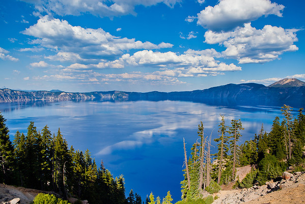 Clouds over water - Crater Lake National Park