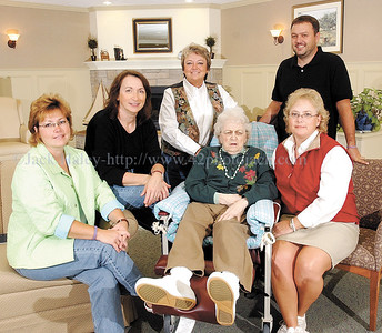 jhshirl'sgirls - Pictured with their mother/aunt Shirley Burnett are (sitting l-r) Mary Bennett, Linda Burnett and Pam Schilstra and (standing) Beverly Wheaton and Lucas Wheaton.
