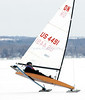 jhiceboats1 - Steven Pearson of Honeoye gets up on two blades as he and two others were at the north end of Canandaigua Lake on Tuesday (2/13).