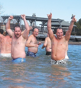 jhfreezefest4 - Just a big old beach party, but the bathers spent very little time in the water at the Canandaigua Freezefest.